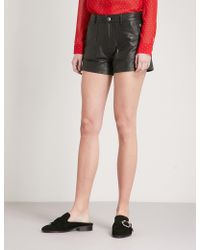 The Kooples | High-waist Leather Shorts | Lyst