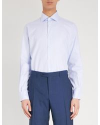 Canali - Checked Modern-fit Cotton Shirt - Lyst