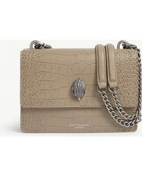Kurt Geiger - Shoreditch Croc-embossed Leather Cross-body Bag - Lyst