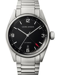 Georg Jensen - Delta Classic Stainless Steel Watch 42mm - Lyst