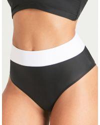 Alexandra Miro - Ladies Black And White Retro Samantha High-rise Bikini Bottoms - Lyst