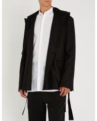 Juun.J - Hooded Double-breasted Wool-blend Jacket - Lyst