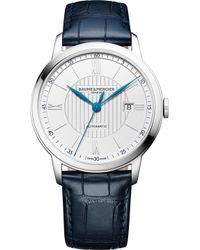 Baume & Mercier - M0a10333 Classima Stainless Steel And Crocodile Leather Watch - Lyst