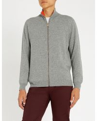 Paul Smith - Zip-fastened Cashmere Jumper - Lyst