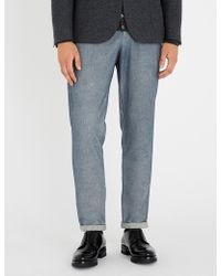 Eleventy - Relaxed-fit Straight Cotton-blend Trousers - Lyst