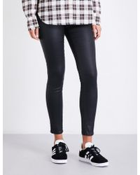 AG Jeans - The Farrah Super-skinny Mid-rise Leatherette Jeans - Lyst