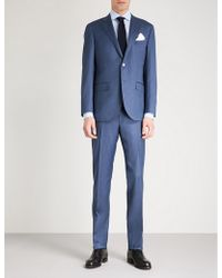 Corneliani - Herringbone Sartoria-fit Wool And Silk-blend Suit - Lyst