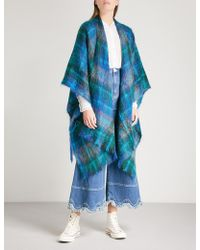 Elizabeth and James - Tartan Vintage Knitted Shawl - Lyst