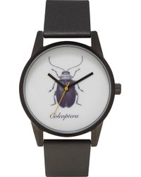 Unknown - Natural Science Coleoptera Alloy And Leather Un14ns09 Watch - Lyst