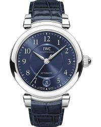 Iwc - Iw458312 Da Vinci Automatic 36 Stainless Steel And Leather Watch - Lyst