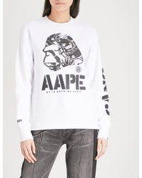 Aape | Foiled Logo-print Jersey Sweatshirt | Lyst