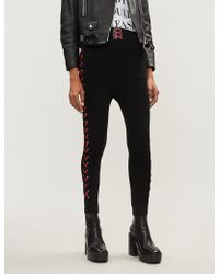 The Kooples - Lace-up Trim Jersey jogging Bottoms - Lyst