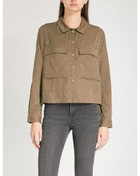 The Kooples - Bead-embellished Woven Shirt - Lyst