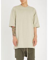Rick Owens - Longline Cotton-jersey T-shirt - Lyst