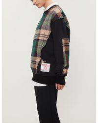 Vivienne Westwood - Tweed-panel Cotton-blend Sweatshirt - Lyst