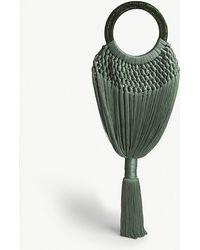 Cult Gaia - Malachite Green Tasselled Angelou Crochet And Resin Clutch Bag - Lyst