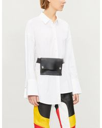 Izzue - Asymmetric-hem Cotton-poplin Shirt - Lyst