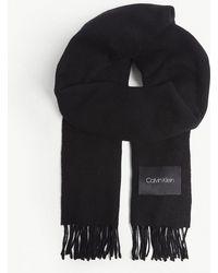 Calvin Klein - Tasselled Wool Scarf - Lyst