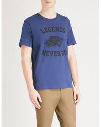 The Kooples - Panther-motif Cotton-jersey T-shirt - Lyst