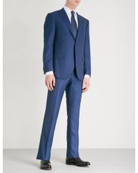 Corneliani - Birdseye-print Leader-fit Wool Suit - Lyst