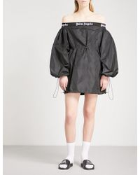 Palm Angels | Off-the-shoulder Balloon Dress | Lyst