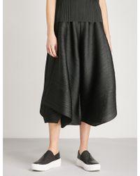 Pleats Please Issey Miyake - Polygon Wide-leg Pleated Trousers - Lyst