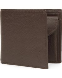 Polo Ralph Lauren | Pebbled Leather Wallet | Lyst