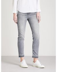 Claudie Pierlot - Passiflore Released Hem Denim Jeans - Lyst