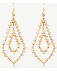 Kendra Scott - Alice 14ct Rose Gold-plated And Cubic Zirconia Earrings - Lyst