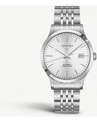 Longines - L2.821.4.72.6 Record Stainless Steel Watch - Lyst