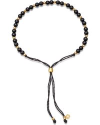 Astley Clarke - Biography 18ct Gold Vermeil And Black Onyx Beaded Bracelet - Lyst