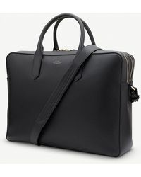 Smythson - Panama Large Leather Briefcase - Lyst
