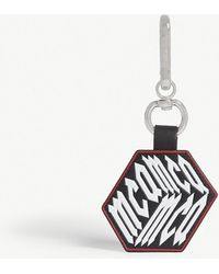 McQ - Logo Cube Leather Keyring - Lyst