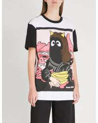 Mini Cream - Mona Lisa-print Cotton-jersey T-shirt - Lyst