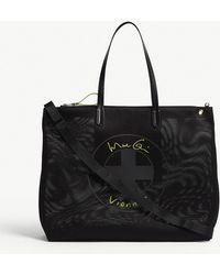 Vionnet - Black Woven Logo Flat Tote Bag - Lyst