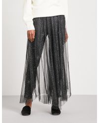 Free People - Bright Star Glittery Tulle Skirt - Lyst