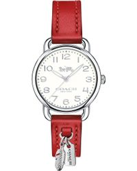COACH - 14502758 Delancey Stainless Steel And Leather Charm Watch - Lyst