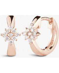 The Alkemistry - Dana Rebecca Starburst 14ct Rose-gold And Diamond Hoop Earrings - Lyst
