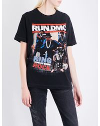 Tribute Collection - Run-dmc Cotton-jersey T-shirt - Lyst