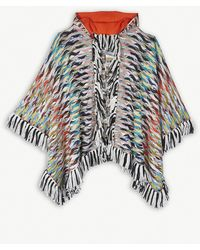 Missoni - Printed Wool-blend Knitted Cloak - Lyst
