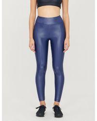 6995158505413 Koral Lustrous High-shine Stretch-jersey leggings in Purple - Lyst