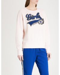 Zadig & Voltaire - Upper Bis Cotton-jersey Sweatshirt - Lyst