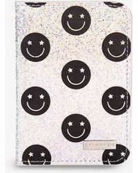 Skinnydip London - Smiley Glitter Passport Holder - Lyst