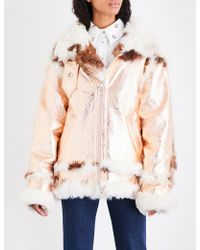 Marques'Almeida - Metallic Shearling Coat - Lyst
