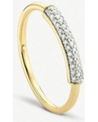 Monica Vinader - Fiji Gold And Diamond Stacking Ring - Lyst