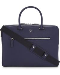 MCM - Mens Innovative Ottomar Grained Leather Briefcase - Lyst