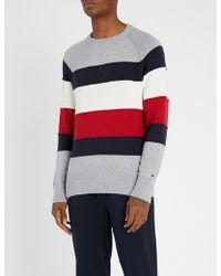 Tommy Hilfiger - Striped Cotton-blend Jumper - Lyst
