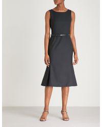 Max Mara - Fazio Wool And Silk-blend Dress - Lyst