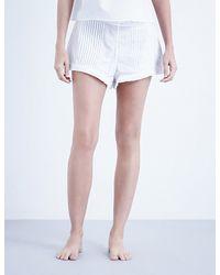 The Sleep Shirt - Pintuck Cotton Shorts - Lyst