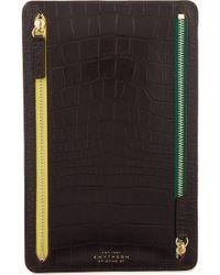 Smythson - Mara Leather Currency Case - Lyst